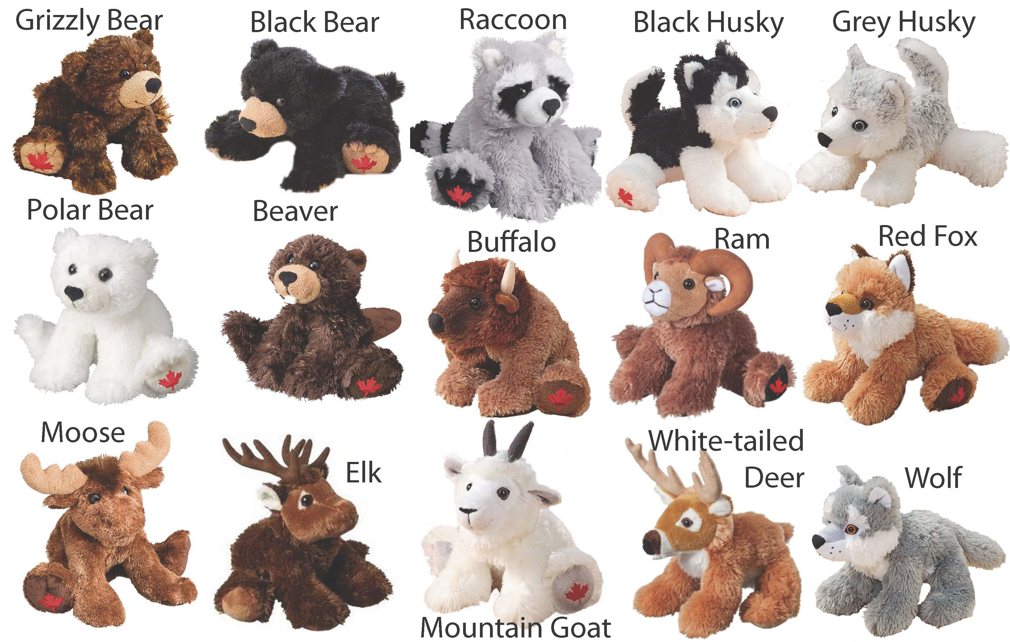 Maplefoot Floppies SPECIAL OFFER - Buy 4 books, get a Maplefoot Floppy Critter for $0.01! With every fourth book purchased choose an adorable Floppy Critter ($10.00 value) to be shipped with your books for only one penny more.  Choose from the following: Beaver, Black Bear, Black Husky, Buffalo, Elk, Mountain Goat, Grey Husky, Grizzly Bear, Moose, Polar Bear, Raccoon, Ram, Red Fox, White-tailed Deer, or Wolf, along with an alternate selection (in case your first choice is out of stock from our manufacturer) and add to cart below. Must be ordered before books have been shipped.